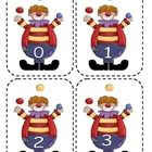 Clown number flashcards    All graphics are courtesy of Scrappin' Doodles....