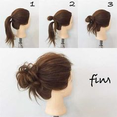 hair up for work bun * hair up for work . hair up for work easy . hair up for work pony tails . hair up for work short . hair up for work medium length . hair up for work long . hair up for work ways to wear . hair up for work bun Messy Bun Hairstyles, Pretty Hairstyles, Easy Messy Hairstyles, Lazy Day Hairstyles, Nurse Hairstyles, Easy Summer Hairstyles, Greasy Hair Hairstyles, No Heat Hairstyles, Holiday Hairstyles