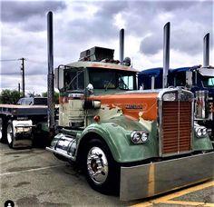 Millions of Semi Trucks Peterbilt Trucks, Mack Trucks, Big Rig Trucks, Old Trucks, Custom Big Rigs, Custom Trucks, Show Trucks, Truck Art, Vintage Trucks