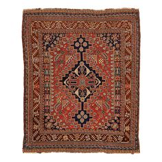Antique Qashqai Wool Rug on sale @abccarpet