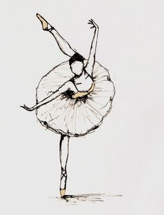 never can get enough of ballerina drawings @Austin Bales Alley