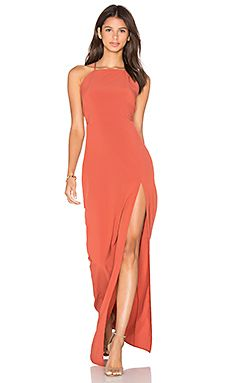 Donna Mizani Square Neck Maxi Dress in Spice