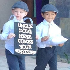 Cutest ring boYS MAYBE SOMETHING LIKE THIS WITH MAKIYAH AND URIAH WALKING DOWN TOGETHER