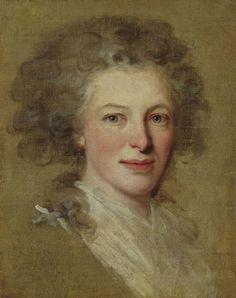Portrait Sketch of Princess Josepha Sophie von Liechtenstein, née Countess zu Fürstenburg-Weitra, she was wife of Johann I Joseph, Prince of Liechtenstein
