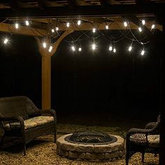 Patio Lighting Idea! Available At Www.cafelights.com