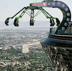 A ride on top of the Stratosphere, Las Vegas!! The tallest building west side of the Mississippi River