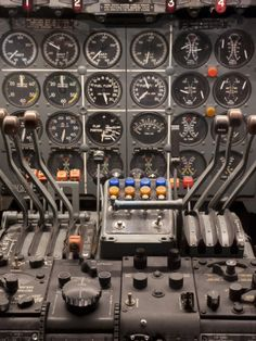 Cockpit and Engine Controls of a Boeing 707 Photographic Print by Greg at AllPosters.com