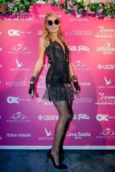 Paris Hilton com look total Carmen Steffens  Paris Hilton wears Carmen Steffens