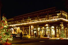 Old Sacramento decorated for the Holdays