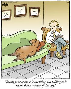 Therapy humor Happy #GroundHogDay! | Much #funny. Very #humor. | Long Story Short on Alphacomedy.com