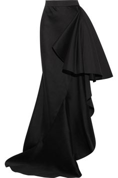 Lanvin - Ruffled wool and silk-blend maxi skirt Mode Outfits, Skirt Outfits, Dress Skirt, Lanvin, Skirt Fashion, Fashion Dresses, Mein Style, Cooler Look, Western Outfits