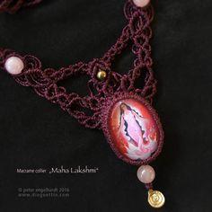 """Bild zum Artikel: Macrame Collier """"Maha Lakshmi"""""""