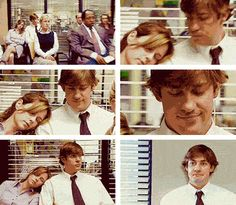 The Office- Jim and Pam  Love this.  A classic scene that was so pivotal and has stood up through time as one of the early ones that spoke so loudly