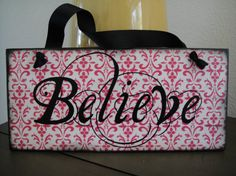 BELIEVE Christmas Holiday Signs Wall Plaque by DoodlesinBloom, $25.00