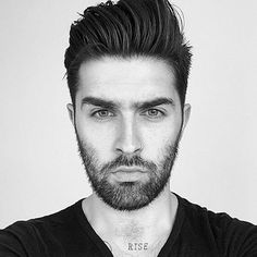 Brush Back with Short Sides and Beard