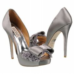 Badgley Mischka Women's Lucie Shoe - ruffles & bows!