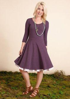 2016 Matilda Jane Mama Women's Queen of Hearts Purple Fall Dress M Med 8 10 | eBay
