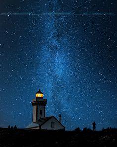 Magical Night by David Keochkerian, via 500px; Belle Ile en Mer, France