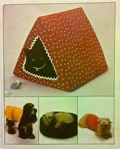Pet DOGHOUSE Bed Sewing Pattern - Vintage Dog Cat Pets Beds…
