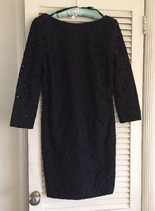 Diane-Von-Furstenberg-Sarita-Black-Lace-Dress-Size-10-V-Back-10-New-DVF