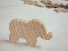 Elephant shapes  unfinished wooden cutouts  lot of 15 by Storyfied, $5.00