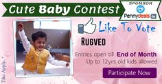 MyCuteBaby Photo Contest Vote For Rugved