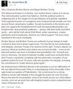 Cornel West Endorses Bernie Sanders, Calls Him a 'Prophetic Politician' | Alternet #FeelTheBern #BernieSanders2016