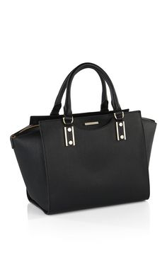 "Leather handbag: ""Maika-F"" - Shoes 02 Black Handbags, Leather Handbags, My Bags, Purses And Bags, Sweet Bags, Look Girl, Guess Bags, Womens Purses, Leather Shoulder Bag"