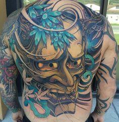 Full Back Japanese Tattoo