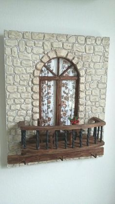 Miniature Rooms, Miniature Crafts, Miniature Houses, Doll House Crafts, Diy Home Crafts, Diy Home Decor, Diy Para A Casa, Clay Wall Art, Fairy Doors