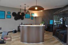 décoration salon de coiffure industriel, serre en métal, déco indus, Rénovation et décoration salon ART COIFFURE à St Alban (22)