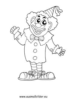 circus clown coloring page | coloring pages, clown
