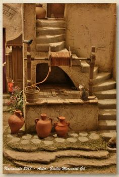 Photos of Emilio Morenatti Gil Nativity scenes. Christmas Crib Ideas, Christmas Home, Christmas Crafts, Christmas Decorations, Hobby House, Christmas Nativity Scene, Nativity Scenes, Free To Use Images, Modelos 3d