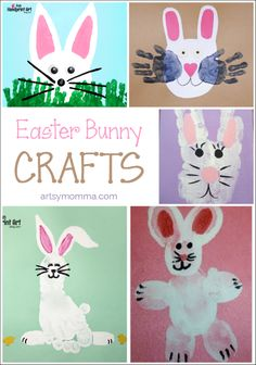 Handprint and Footprint Easter Bunny Crafts