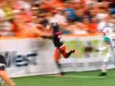 Fan recibe impresionante golpe en partido de futbol americano