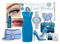 Professional Look - Cool Winter by prettyyourworld on Polyvore featuring Ralph Lauren, Jimmy Choo, Gucci, Dasein, Movado, BillyTheTree, Christian Lacroix, Aspinal of London, Clinique and Montegrappa