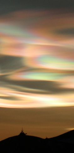 Nacreous Clouds Above McMurdo Base, Antarctica