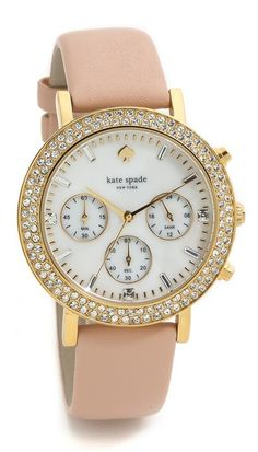 gorgeous pave watch by Kate Spade  http://rstyle.me/n/tietspdpe