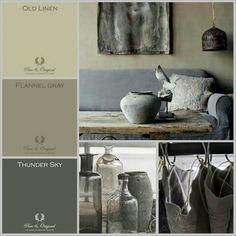 MOODboard | kleuradvies voor verbouwde boerderij Inspired BY COLOR #anke #krijtverf #kalkverf Kleuren Pure & Original