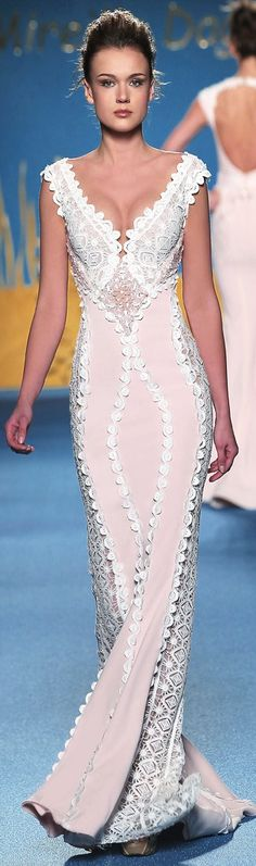 mireille dagher s/s 2014 This beautiful gown is ultra-feminine, & tres chic with a whisper of romance..K♥