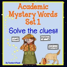 This sample is part of a set of Academic Mystery Words. It is a fun way for your students to gain insight and understanding into important words they need to know.Each word poster includes 4 clues to help reveal the Academic Mystery Word. These words can be used daily, weekly or whatever works in your schedule.