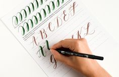 Free Brush Pen Calligraphy Worksheet   The Postman's Knock