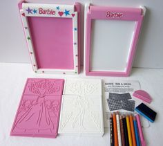 Barbie Fashion Plates 1970's Vintage Mattel Barbie Rub and