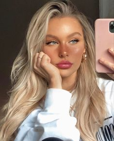 Beauty Make Up, Hair Beauty, Tumbrl Girls, Blonde Hair Looks, Natural Makeup Looks, Cute Makeup Looks, Natural Beauty, Aesthetic Makeup, Aesthetic Girl