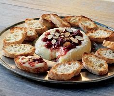 Cedar-planked Brie with Cherry Chutney and Toasted Almonds - 20 Delicious Grill Recipes for Summer Cheese Appetizers, Appetizer Recipes, What's For Breakfast, Toasted Almonds, Grilling Recipes, Grilling Ideas, Almond Recipes, Brie, Chutney