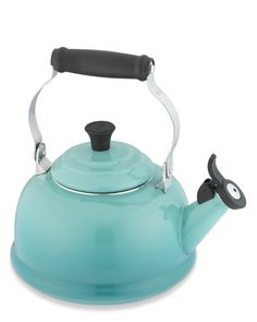 Le Creuset Classic Teakettle, Marseille Blue - a PERFECT teakettle for my color scheme