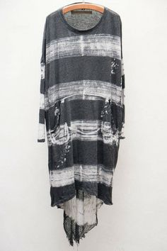 Raquel Allegra Black Oversized Tie Dye Dress $295 - Available now at Heist...so cool...I could work this dress over...