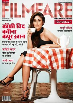 Kareena Kapoor on The Cover of Filmfare Magazine(Hindi) - October 2013.
