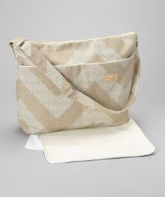 Sand Denton Zigzag Diaper Bag