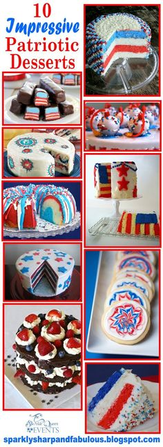 10 Impressive Patriotic Desserts - RED WHITE AND BLUE
